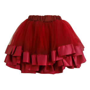 Tulle Skirt - Wine