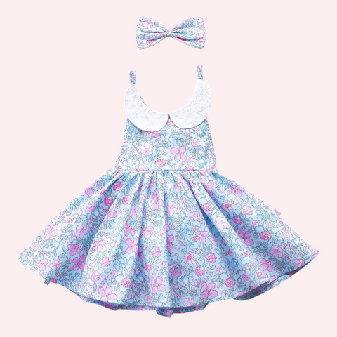 Sweetheart Dress + bow - Ellia