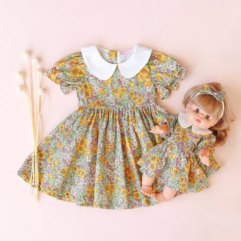 Collar Dress + bow - Delilah