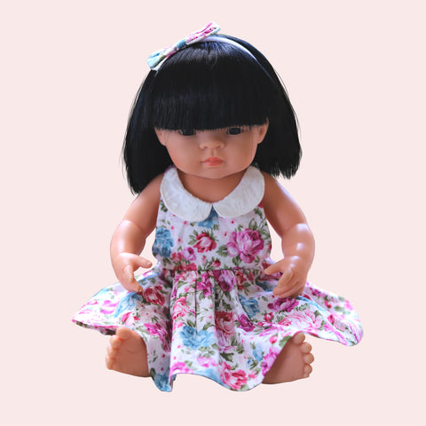 LIMITED EDITION DOLL Sweetheart Dress + bow - Amber
