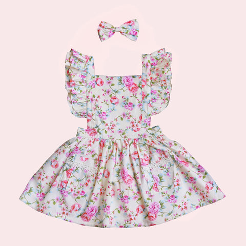 Flutter Dress + bow - Evie