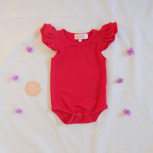 Cherry Red shortsleeve flutter