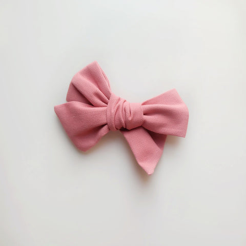 Dusty Rose Big Bow