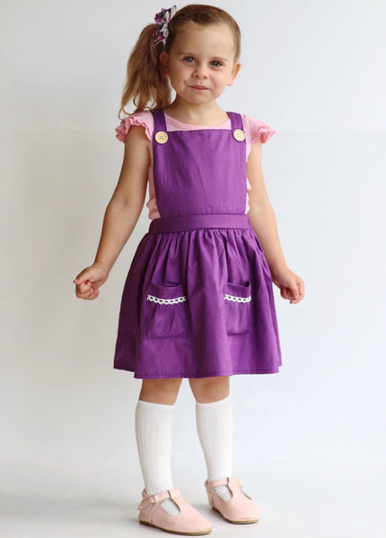 Pinafore Dress - Raisin