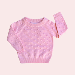 Confetti Knit Jumper - Blush