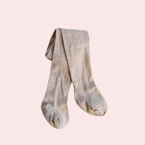 Pattern Stockings - Oat