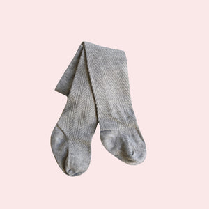 Pattern Stockings - Grey