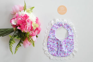 LIMITED EDITION LACE BIB - Iris