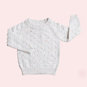 Confetti Knit Jumper - Milk Speckled