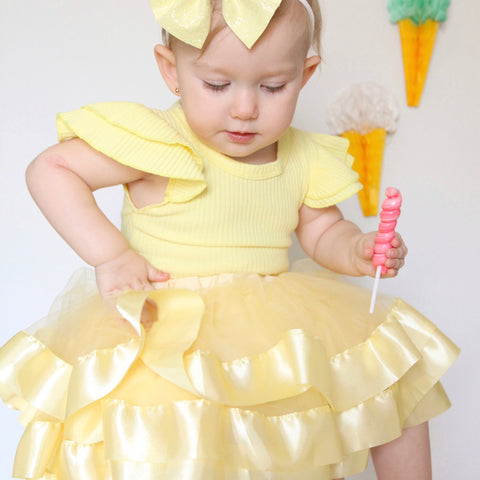 Tulle Skirt - Banana