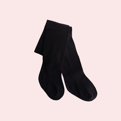 Pattern Stockings - Black