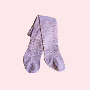 Pattern Stockings - Lilac
