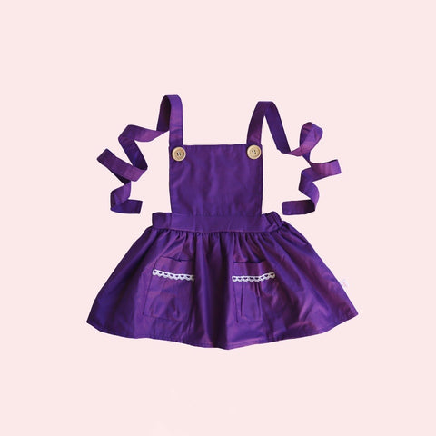 DOLL Pinafore Dress - Raisin