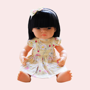 DOLL Flutter Dress + bow - Chesca