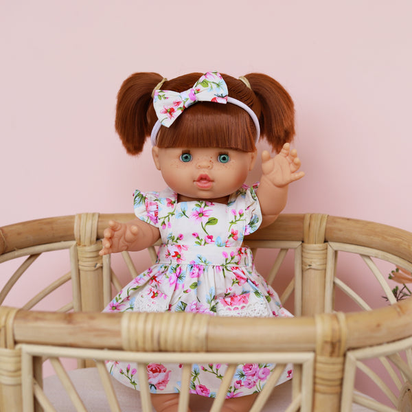 DOLL Flutter Dress + bow - Evie
