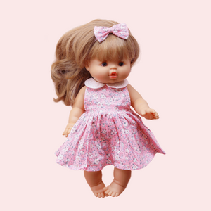 DOLL Sweetheart Dress + bow - Lylah
