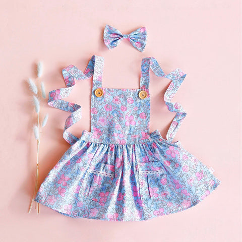 Pinafore Dress + bow - Ellia