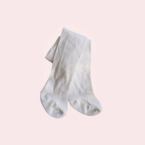 Pattern Stockings - Ivory