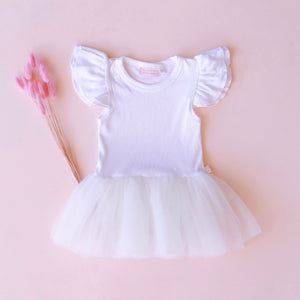 Essentials Tulle Dress - Milk