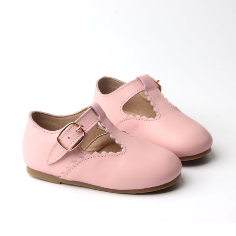 T-Bar Shoes - Blush