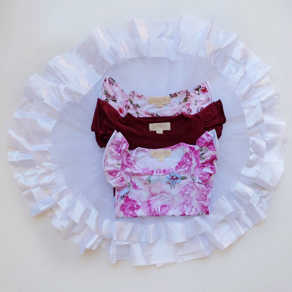 Tulle Skirt - White