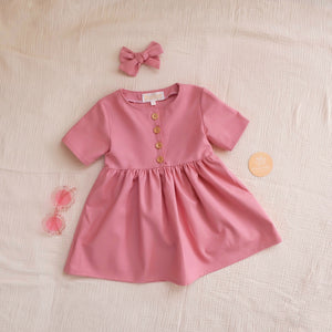 Dusty Rose Spring Dress