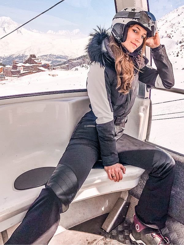 Best Selling Warm Breathable Fur Ski Suit