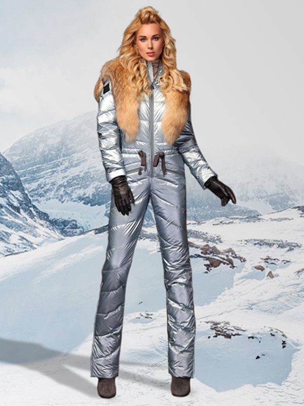 Onesies Silver Waisted Goose Down Ski Suit
