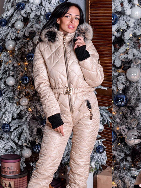 Warm & Comfortable Onesies Goose Down Ski Suit