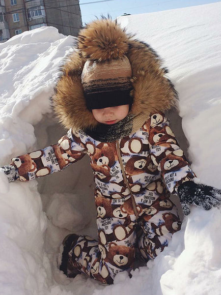The Cute Onesies  Goose Down Ski Suit For Kids - From Canadian Designer