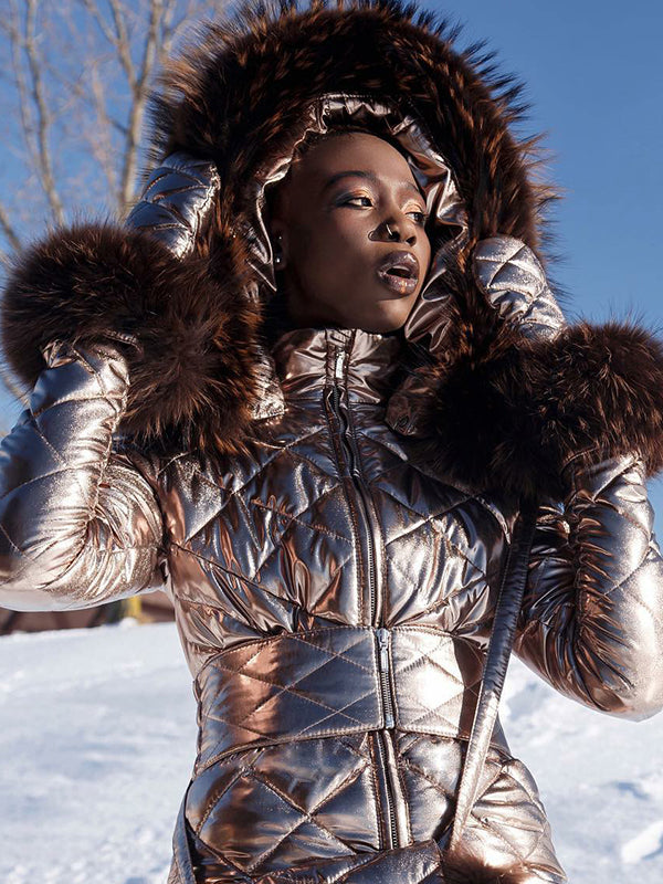 The Golden Onesies Goose Down Ski Suit - Dazzling & Attractive