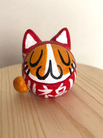 Daruma Cat - Red Classic