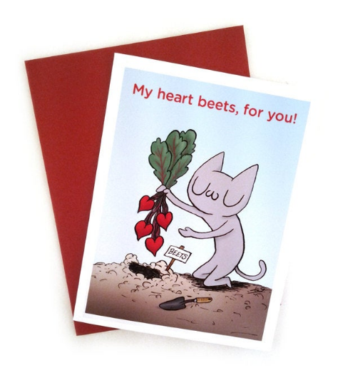 My Heart Beets, For You! Greeting Card A2