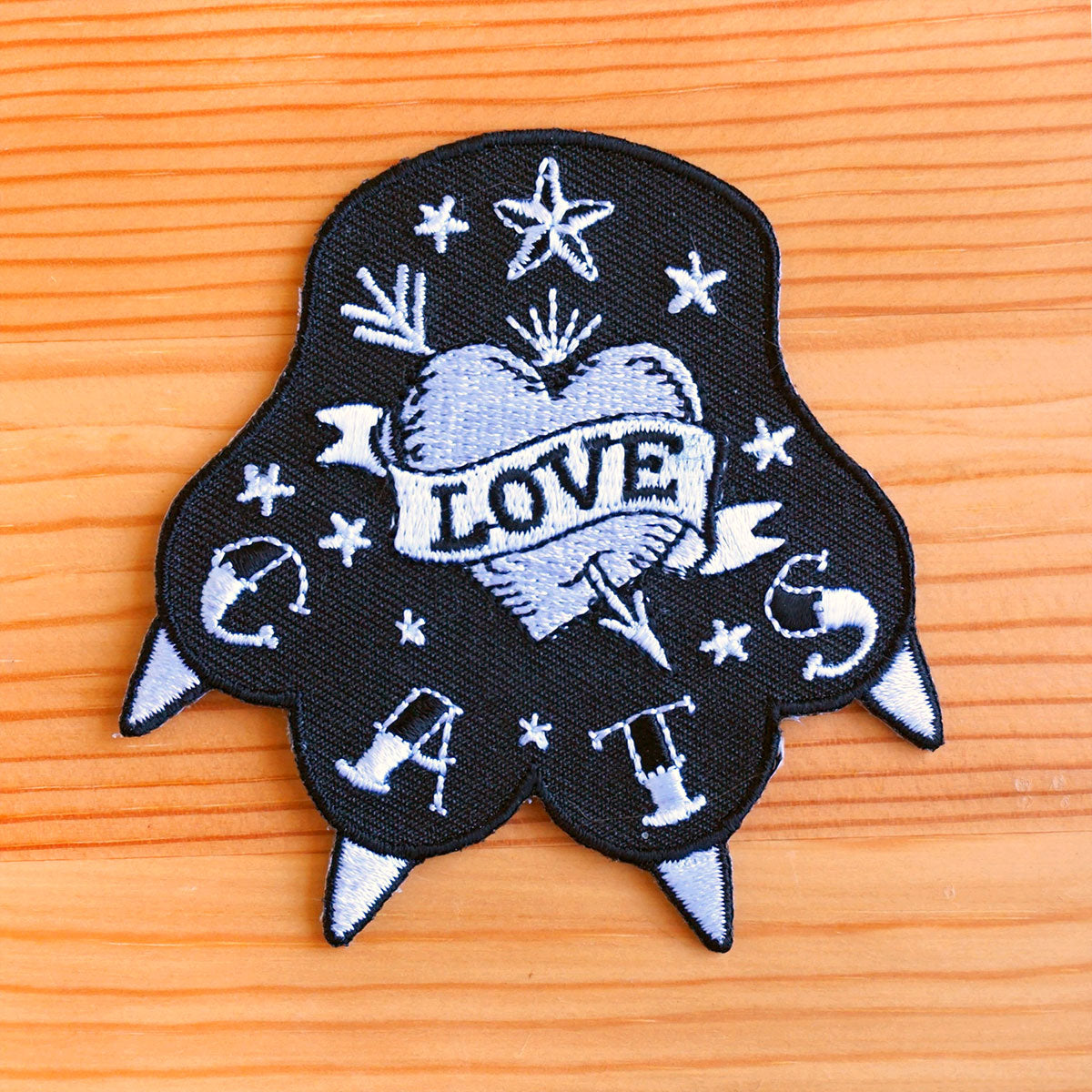 Love Cats Embroidered Patch