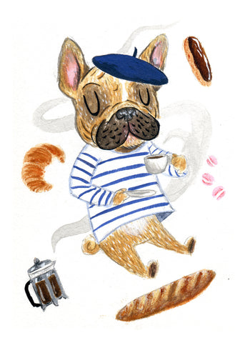 "Frenchie - 5""x7"" Print"