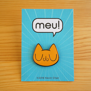Orange Meu Enamel Pin