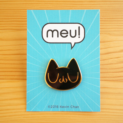 Black Meu Enamel Pin