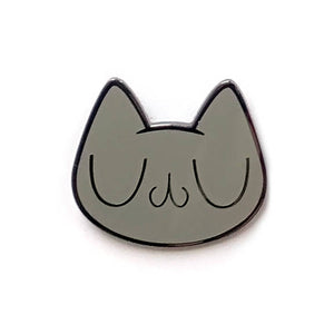 Grey Meu Enamel Pin