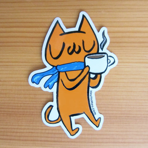 Coffee Break! Meu Glossy Vinyl Sticker