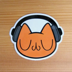 Blissful Beats! Meu Glossy Vinyl Sticker