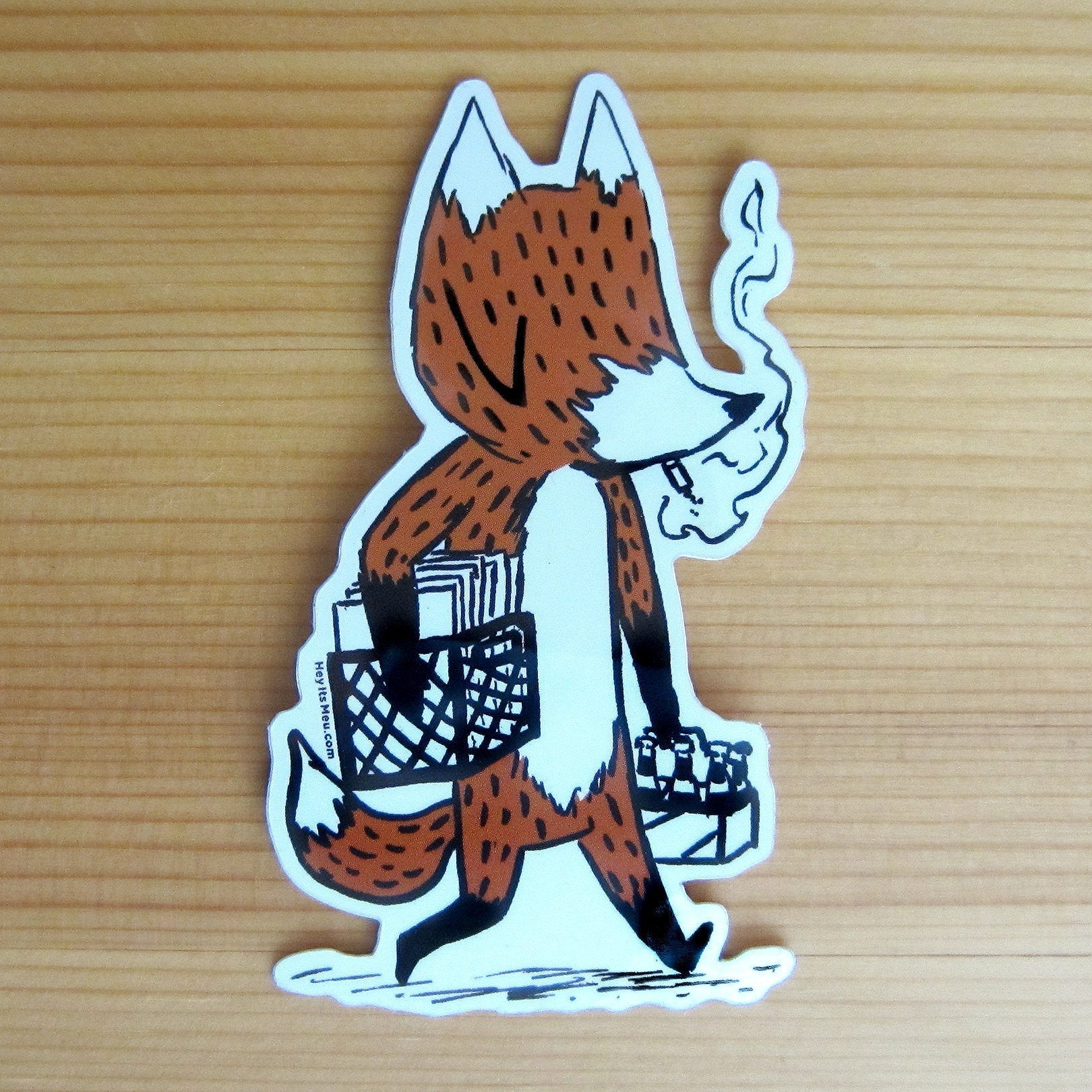 Punk Fox! Glossy Vinyl Sticker