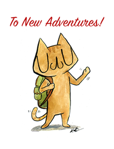 To New Adventures! Greeting Card A2