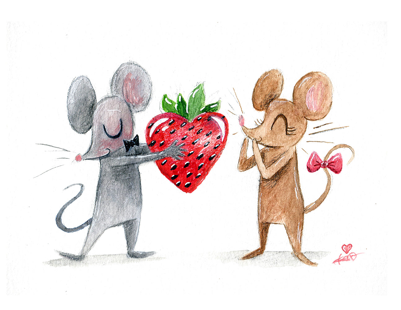 I love you Berry much, Sweetheart! Greeting Card A2