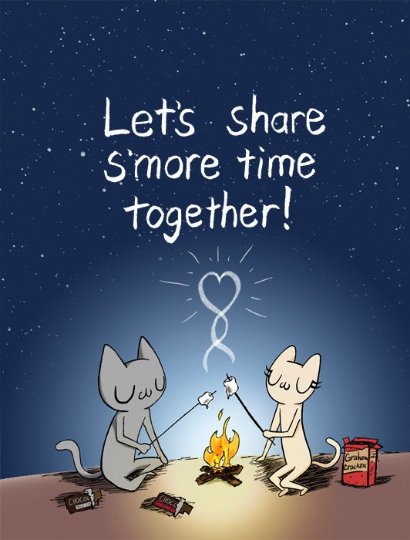 Let's Share S'more Time Together! Greeting Card A2