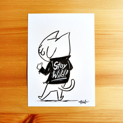 Stay Wild - Ink Drawing