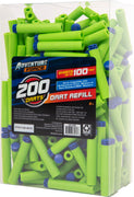 DART ZONE - ADVENTURE FORCE - 200 standard size dart refill pack - ( nerf rival )