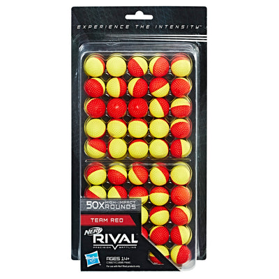 Nerf Rival - 50 Rounds Refill pack of Ammo - RED / YELLOW