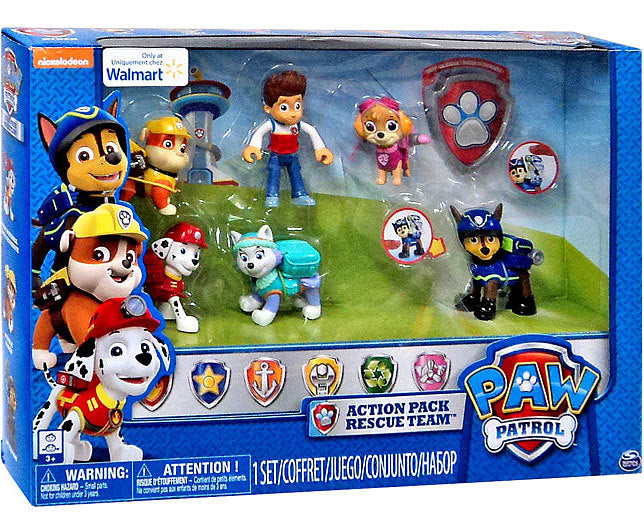 Paw Patrol Rescue Team Everest Ryder Skye Marshall Rubble Chase