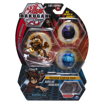 BAKUGAN Battle Planet - AURELUS HOWLKOR Starter pack 3 - Pack