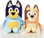 BLUEY - FAMILY PLUSH - BANDIT 33cm AND Chilli 30cm take along plush toy